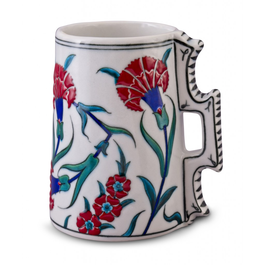Jug with carnation pattern ;16;14;;; - FLORAL