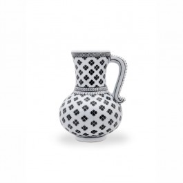 BLACK & WHITE Jug with geometrical pattern ;;