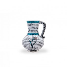 CONTEMPORARY Jug with tulip and geometrical pattern ;;