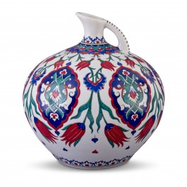 FLORAL Jug with tulips and Rumi patterns ;31;28;;;