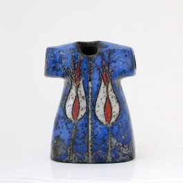 RAKU Kaftan with tulips in contemporary style ;18;14
