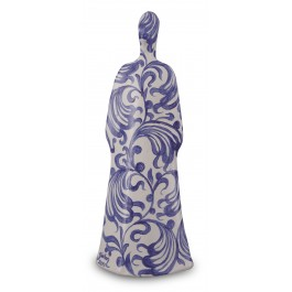 CONTEMPORARY Lady figurine with floral pattern ;37;14;;;