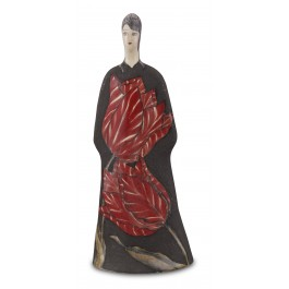 CONTEMPORARY Lady figurine with tulip pattern ;37;14;;;