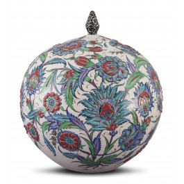 FLORAL Lidded jar with floral pattern ;35;31;;;