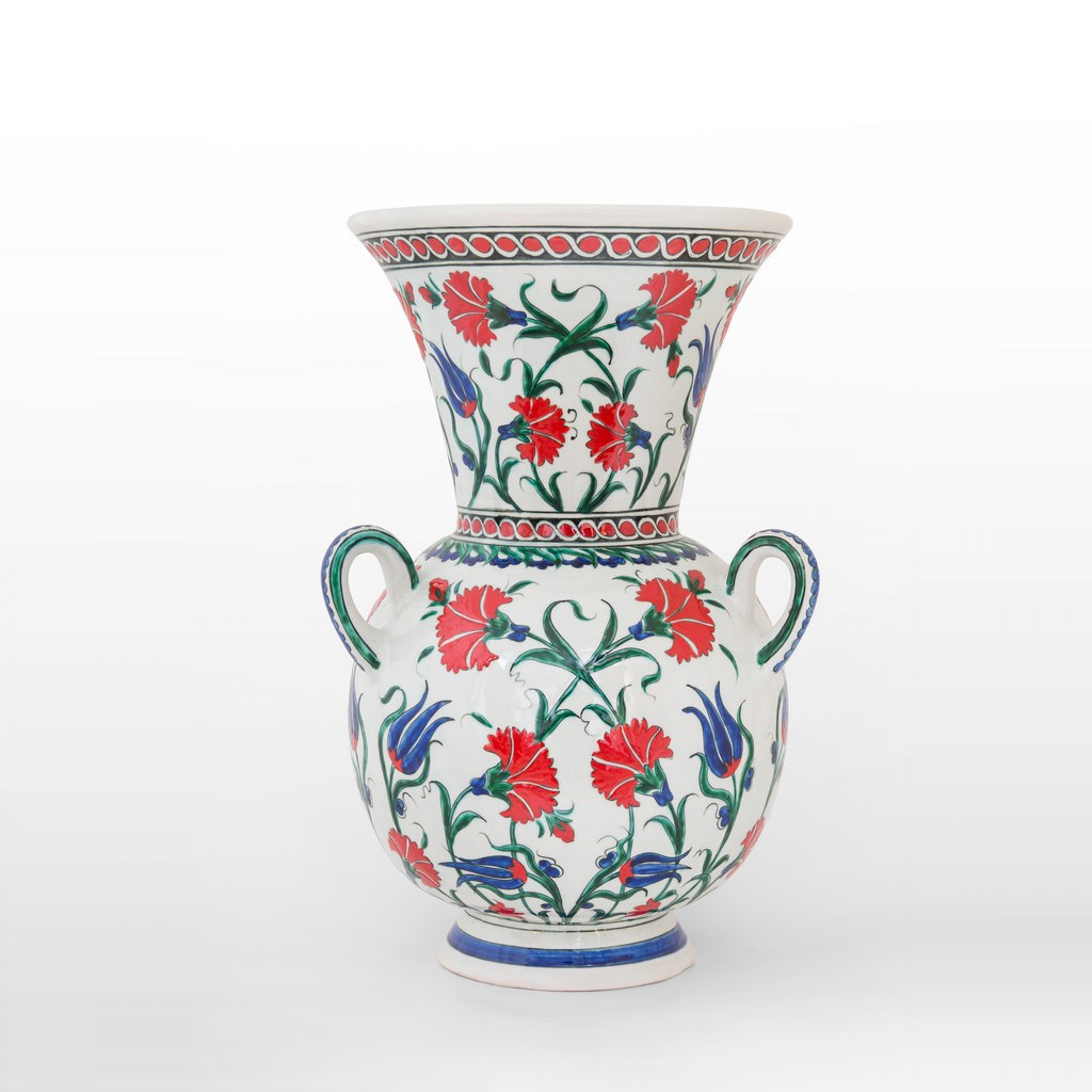 Mosque lamp with carnation flowers and tulips ;42;25 - DECORATIVE ITEM & OBJECTS