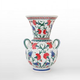 DECORATIVE ITEM & OBJECTS Mosque lamp with carnation flowers and tulips ;42;25
