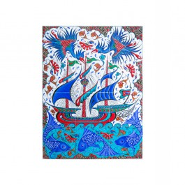 TILE & PANELS Panel with boat and animal figures ;60;80