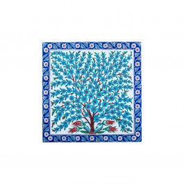 FLORAL Panel with flower tree ;75;75