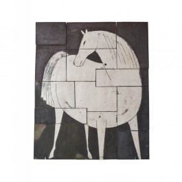 TILE & PANELS Panel with horse figure ;;