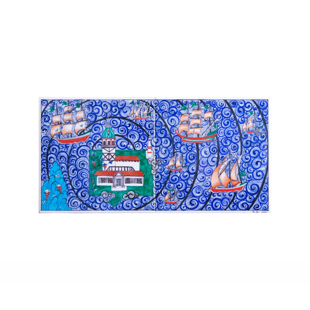 Panel with sea miniature ;25;50;;; - TILE & PANELS