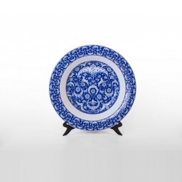 BLUE & WHITE Plate in Baba Nakkaş style ;;51