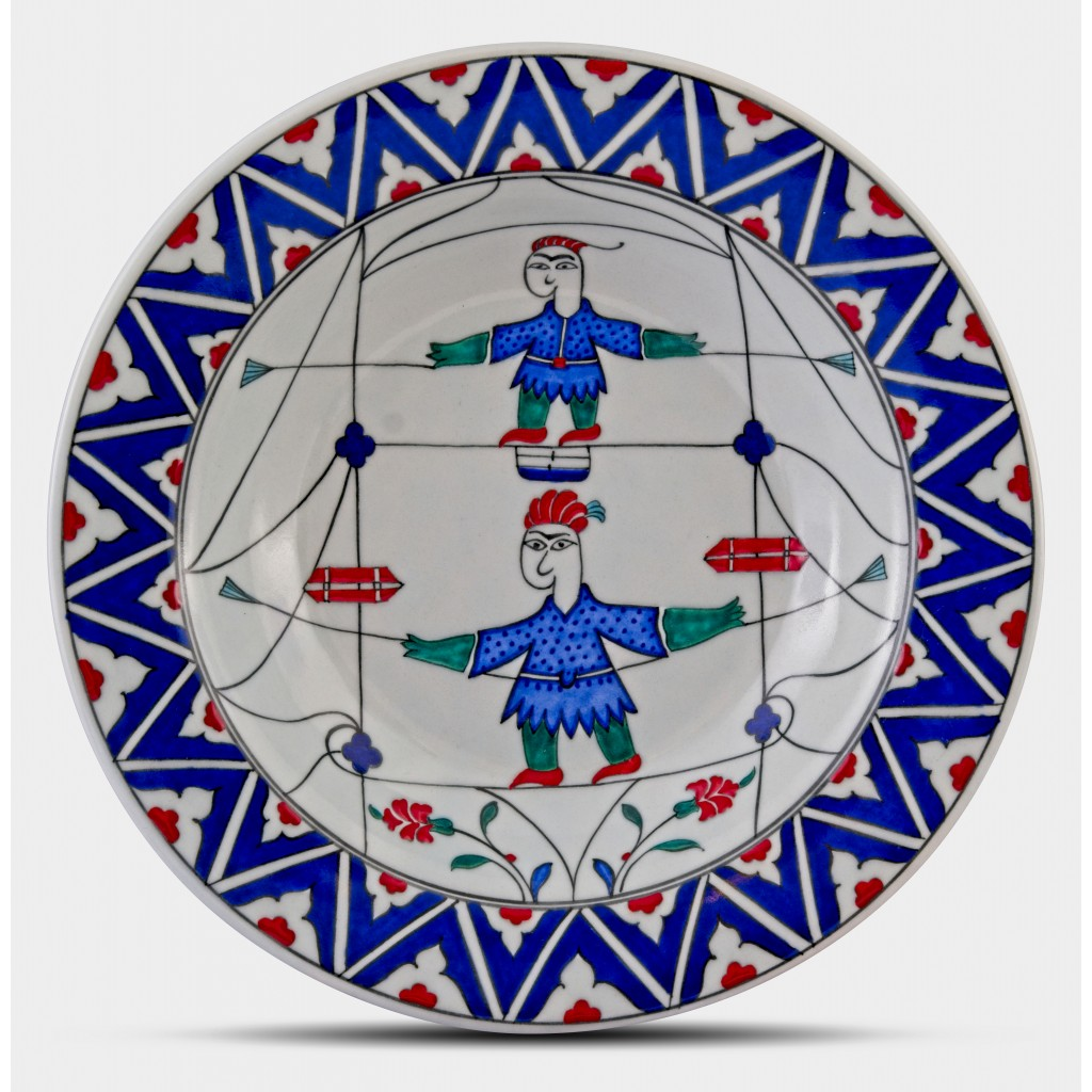 Plate with acrobat figure ;;30;;; - PLATE