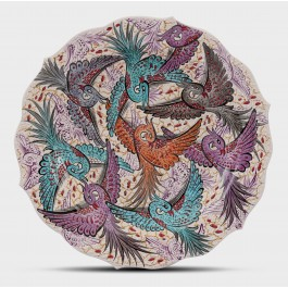 CONTEMPORARY Plate with birds ;;30;;;