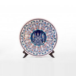 CONTEMPORARY Plate with calligraphy and geometric pattern ;;43