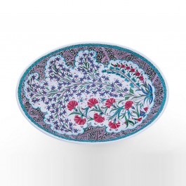 FLORAL Plate with carnation flowers ;13;84x48
