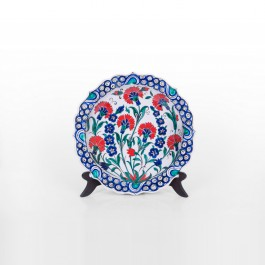 FLORAL Plate with carnation flowers ;;27