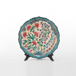 ARTIST Saim Kolhan Plate with carnation flowers ;;30