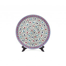 FLORAL Plate with central carnation flower pattern ;;