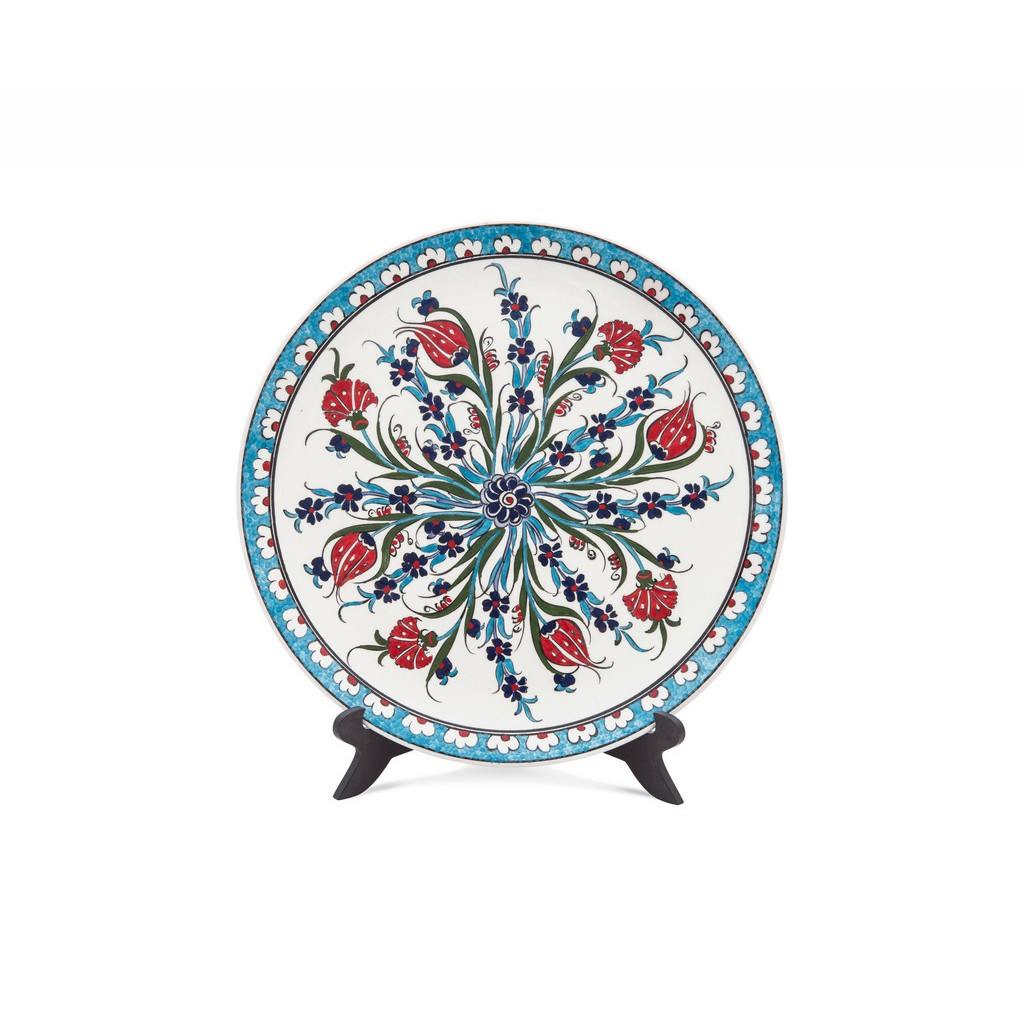 Plate with central floral composition ;; - FLORAL