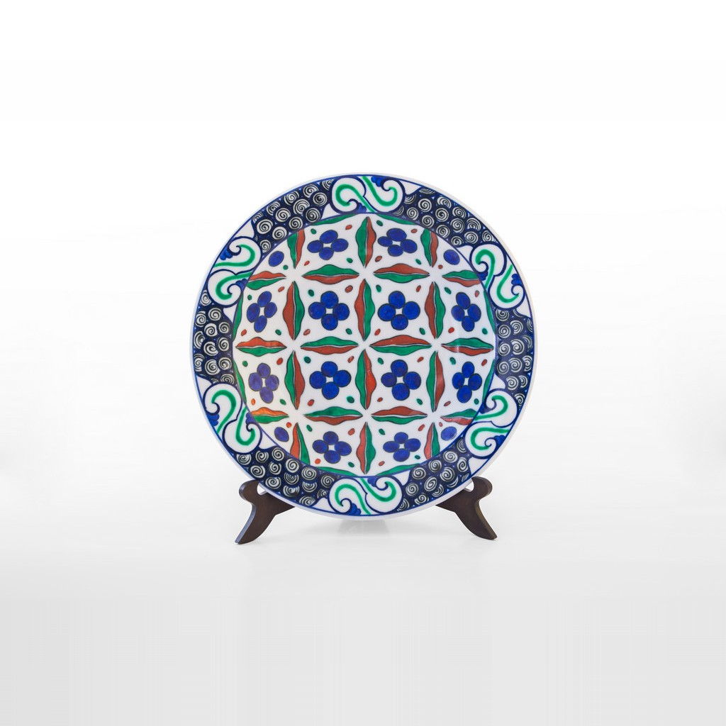 Plate with chintemani pattern ;;30 - GEOMETRIC