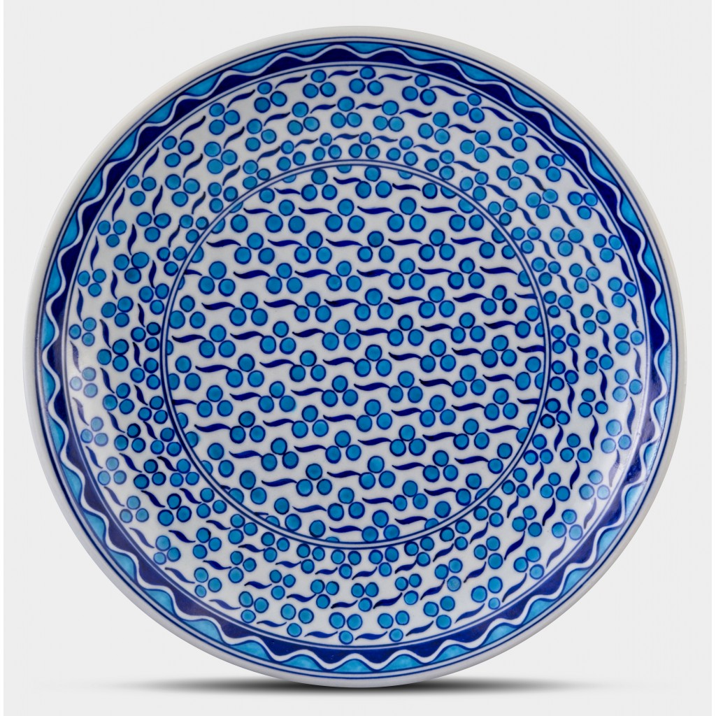Plate with cintemani pattern ;;30;;; - GEOMETRIC