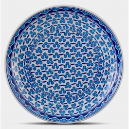 GEOMETRIC Plate with cintemani pattern ;;30;;;