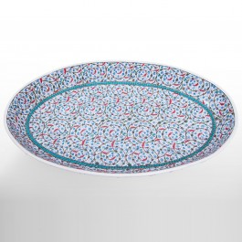FLORAL Plate with contemporary tugrakesh pattern ;13;89