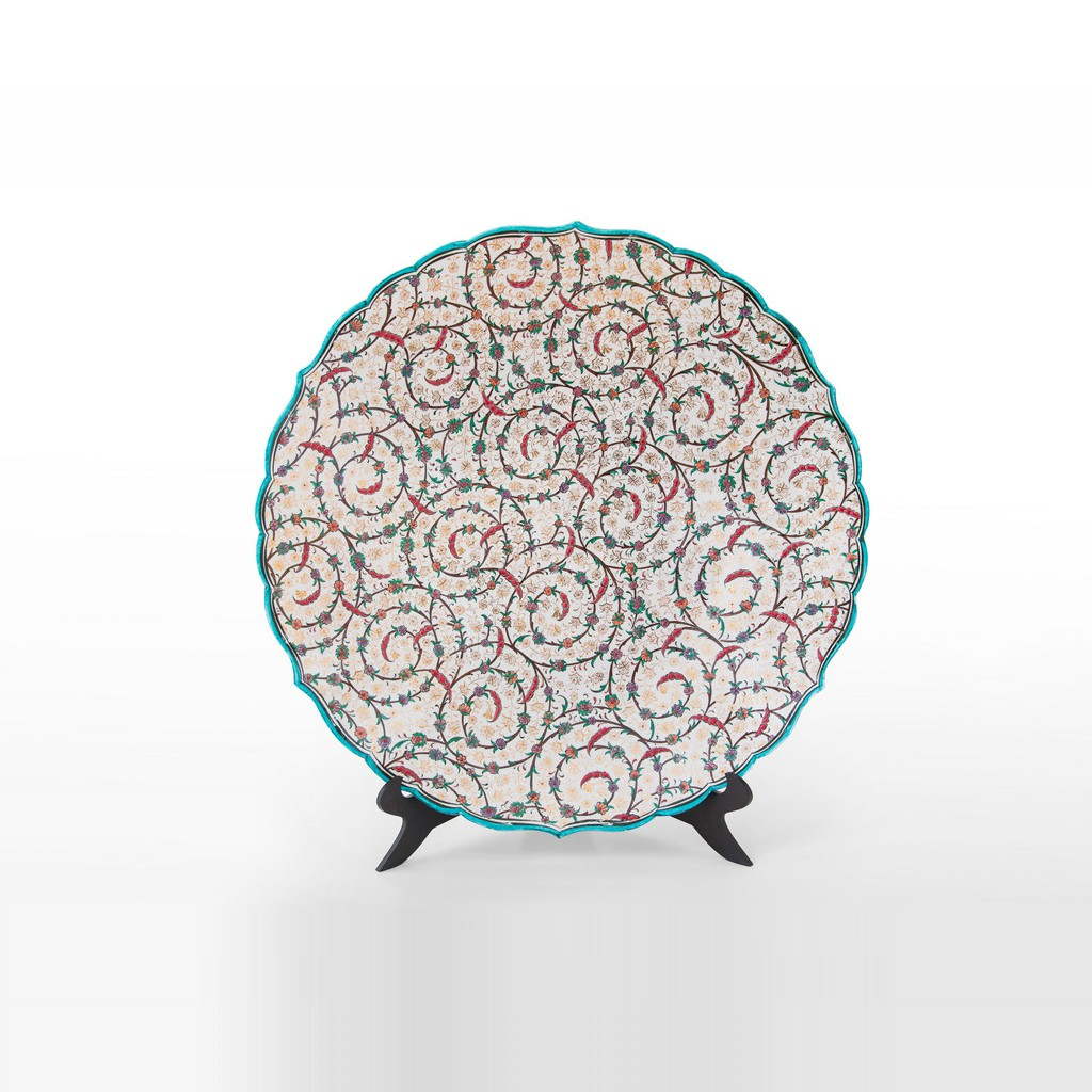 Plate with contemporary tugrakesh pattern ;;56 - PLATE