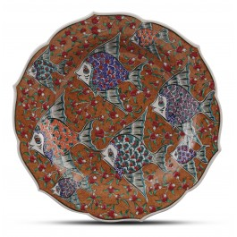 CONTEMPORARY Plate with fish pattern ;;30;;;