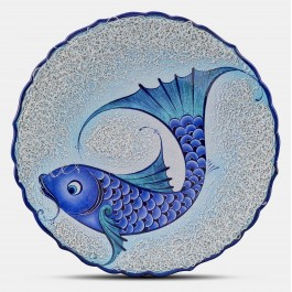 CONTEMPORARY Plate with fish pattern ;;43;;;