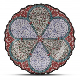 FLORAL Plate with floral and Golden Horn patterns ;;30;;;