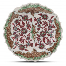 PLATE Plate with floral pattern ;;30;;;