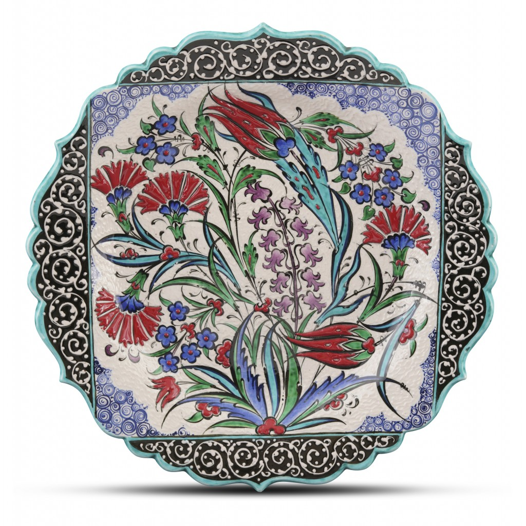 Plate with floral pattern ;;30;;; - FLORAL