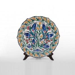 PLATE Plate with floral pattern ;;30