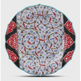 GEOMETRIC Plate with floral pattern ;;30;;;