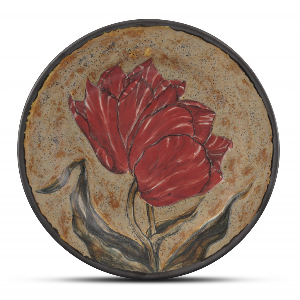Plate with floral pattern ;;32;;; - FLORAL