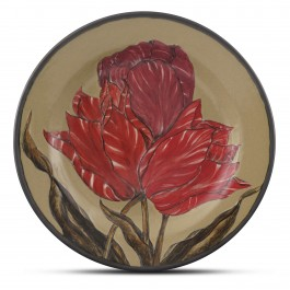 CONTEMPORARY Plate with floral pattern ;;32;;;