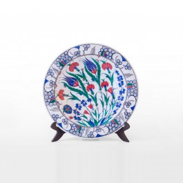 PLATE Plate with floral pattern ;;36