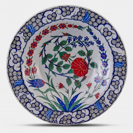 PLATE Plate with floral pattern ;;36;;;