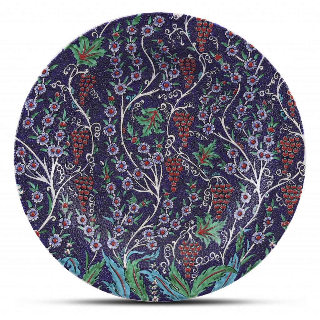 Plate with floral pattern ;;40;;; - PLATE
