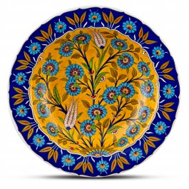 PLATE Plate with floral pattern ;;41;;;