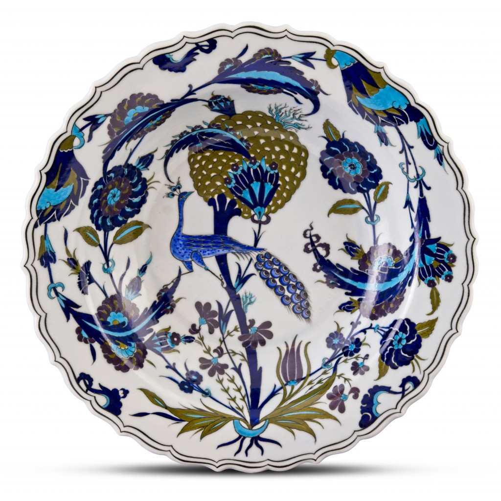 Plate with floral pattern ;;41;;; - FLORAL