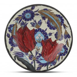 CONTEMPORARY Plate with floral pattern ;;42;;;