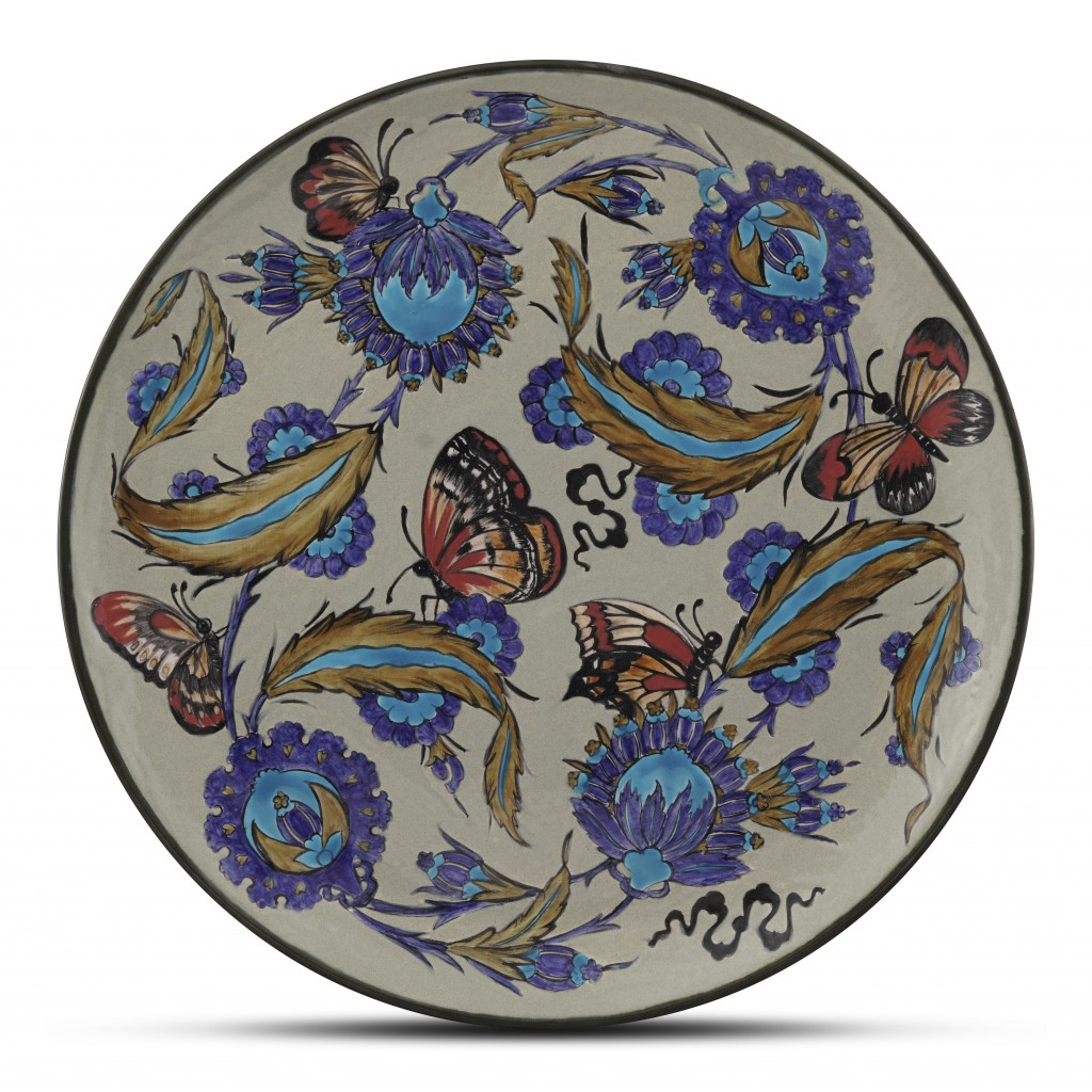 Plate with floral pattern ;;42;;; - CONTEMPORARY