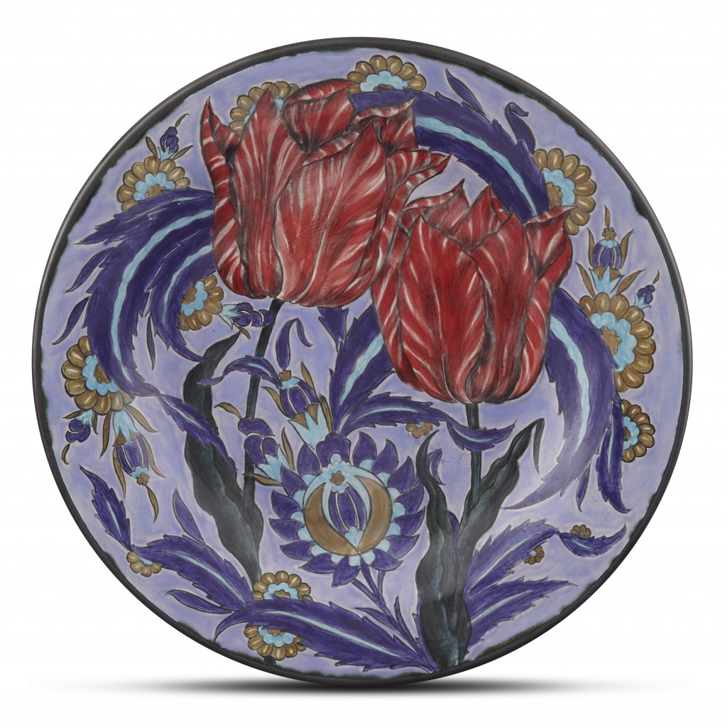 Plate with floral pattern ;;42;;; - PLATE