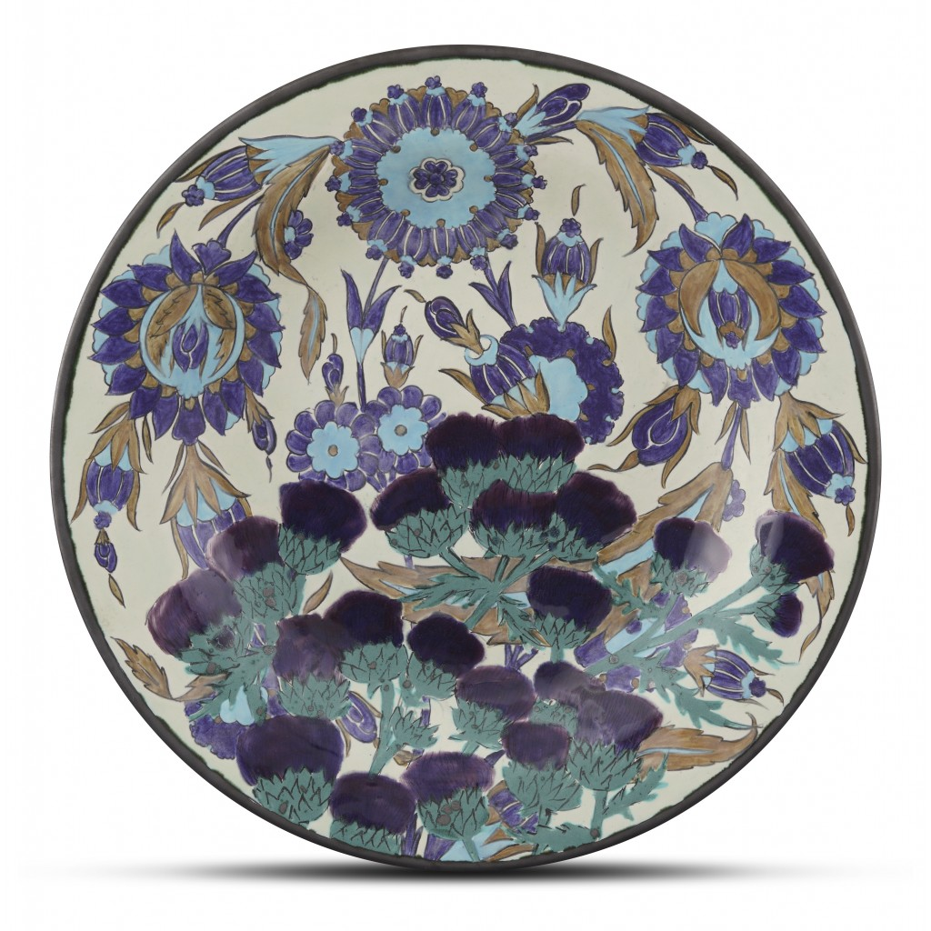 Plate with floral pattern ;;42;;; - FLORAL
