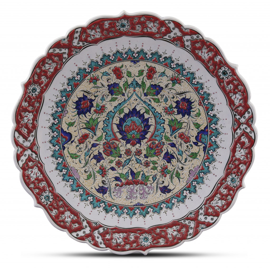 Plate with floral pattern ;;43;;; - PLATE