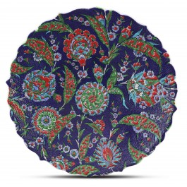 PLATE Plate with floral pattern ;;43;;;