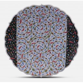 GEOMETRIC Plate with floral pattern ;;43;;;