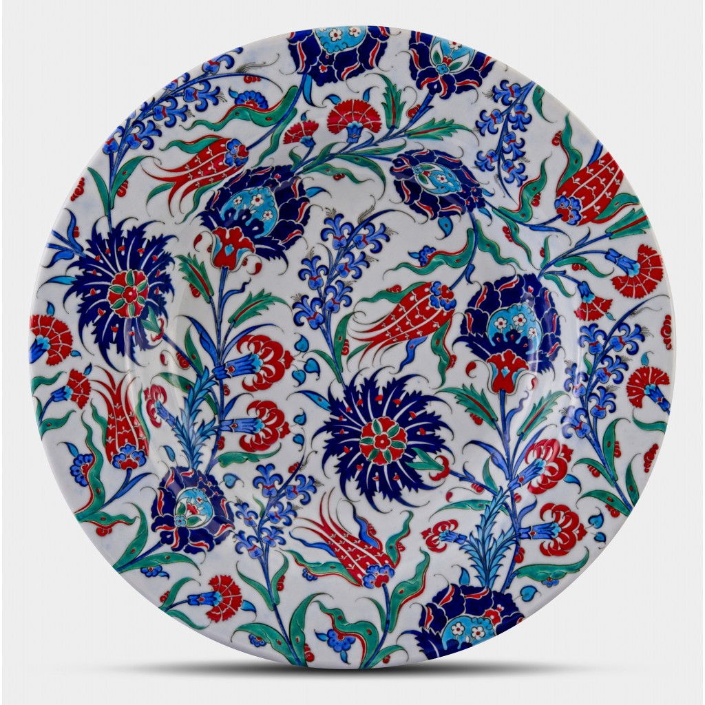 Plate with floral pattern ;;52;;; - PLATE